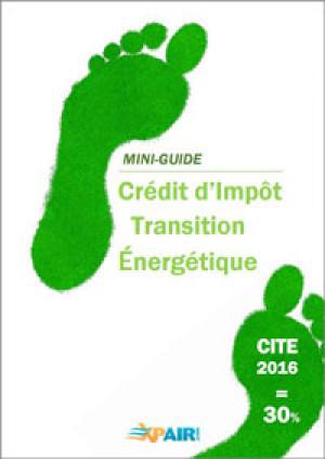 Crédit d'impôt pour la Transition énergétique 2016