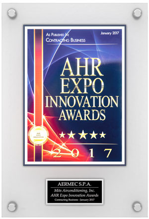 AERMEC reçoit le Awards 2017 de l'innovation