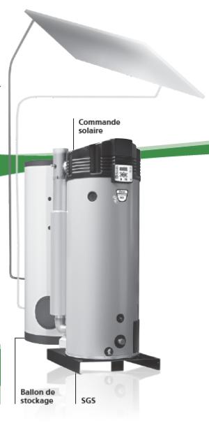 Générateur ECS tertiaire haut rendement à condensation solaire : SGS 2021