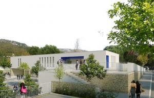 Complexe sportif exemplaire RT2012-20%avec micro-cogénération au biogaz