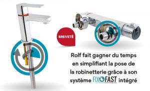 Système de fixation pour robinetterie Fixofast 2020