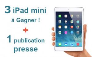 Trophées Numériques I+E, 3 iPad mini à gagner ! Inscrivez-vous !