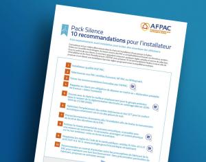 Pack Silence : 10 recommandations pour l'installateur et 10 pour l'utilisateur PAC