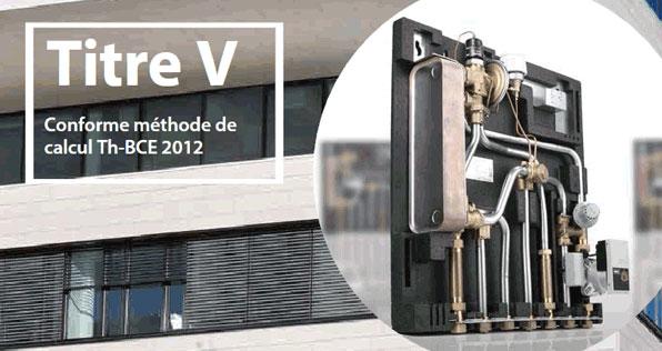 Modules thermiques d appartement titre v rt 2012 for Chauffage pour rt 2012
