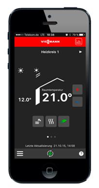 Vitotrol App pour le pilotage depuis un Smartphone
