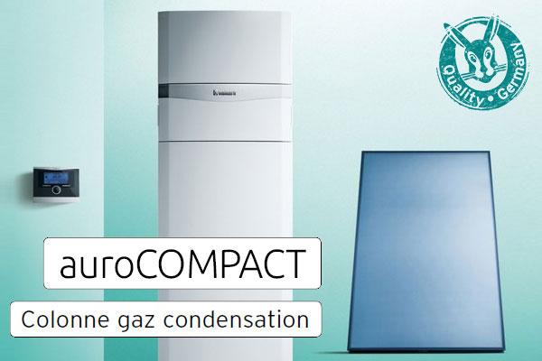 Colonne gaz condensation et solaire  auroCOMPACT