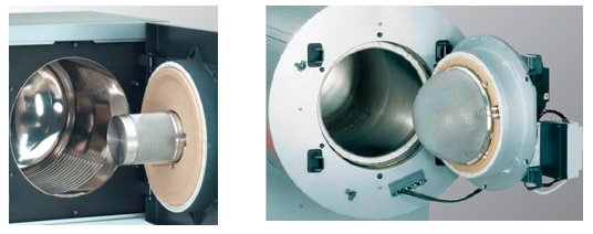 Brûleur radiant permettant de ne pas dépasser une température de 900 °C en surface.