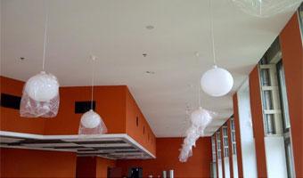 mise en oeuvre plafond CD-4 Wavin