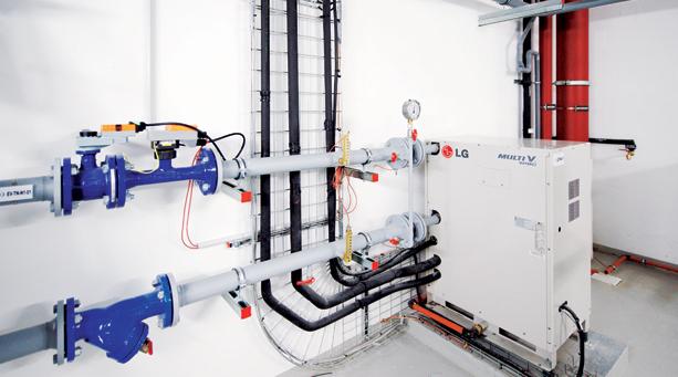 Groupe de condensation sur boucle d'eau: fonctionnement simultanée chaud et froid