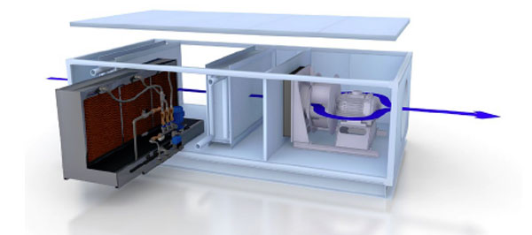 module d'humidification- refroidissement