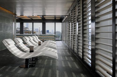 Salle de repos climatisée