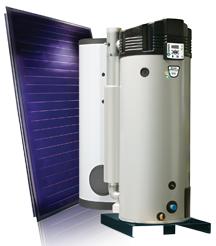 GS : Préparateur ECS    solaire-gaz à condensation avec ballon de stockage
