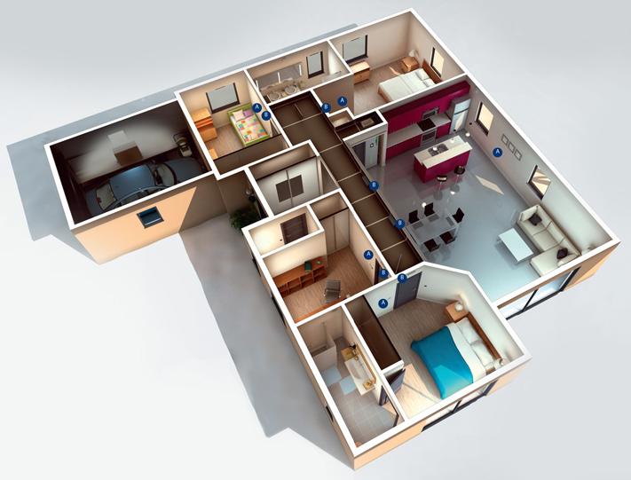 solution 3 en 1 T.One® AquaAIR connectée adaptée aux maisons
