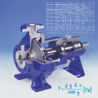 Determination pompes centrifuges