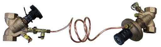 Robinet volumétrique adapté avec un robinet régulateur de pression différentielle Oventrop