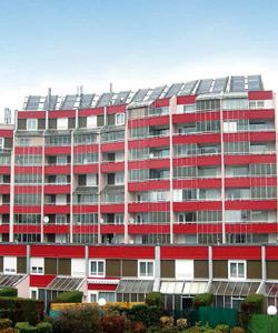 Installation solaire sur un immeuble