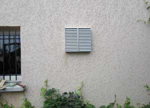 Mise en  œuvre rejet d'air/prise d'air