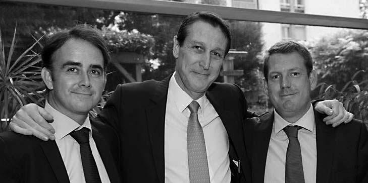 Vincent Gadonneix, CEO Batiactu Groupe, Philippe Nunes, Directeur Général XPair, Xavier Dumoulié, Vice-Président Batiactu Groupe