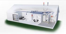 Compact P, centrale multifonction résidentielle double-flux : un air 100% neuf