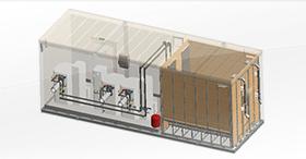 Chaufferie container bois, la solution clé en main automatisée