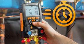 Manomètre froid électronique pour un entretien aisé :  testo 557 et 550