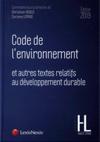Livre Code de l'environnement 2019