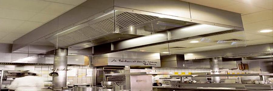 Ventilation dans les locaux de cuisine