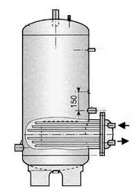 Ballon de stockage avec épingle chauffante à eau chaude