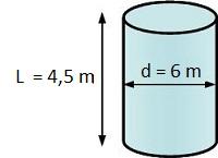 calcul volume d'un cylindre