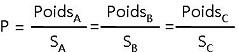formule poids