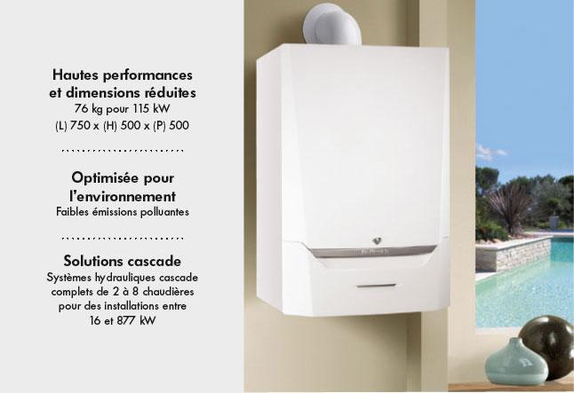Chaudière murale gaz condensation Evodens Pro