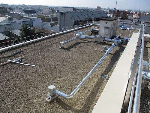Réseau de ventilation en toiture