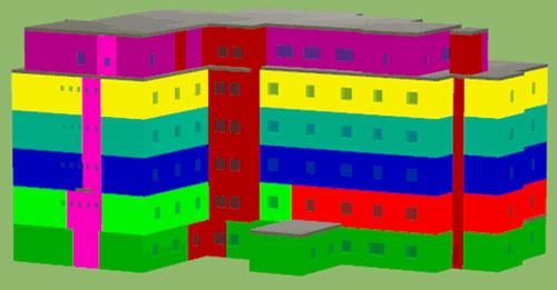 Saisie du bâtiment sous logiciel Alcyone