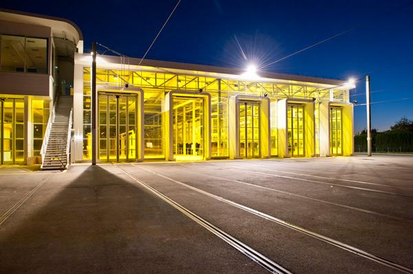 Géothermie sur pieux énergétiques: centre de tramways de Tours