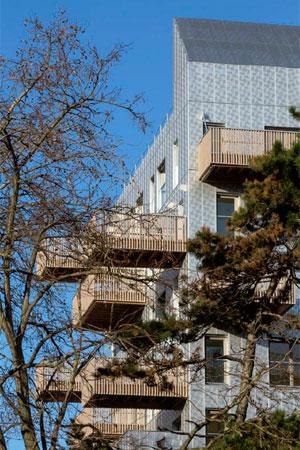 Vue d'un des immeubles du quartier Paul Bourget