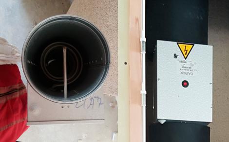 batteries électriques implantées sur les réseaux de ventilation