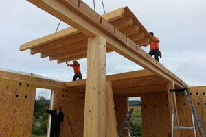 Montage ossature bois bâtiment Convivium