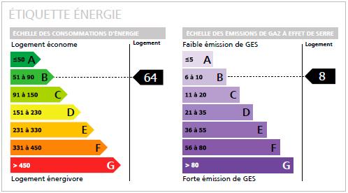 Etiquette diagnostic de performance énergétique