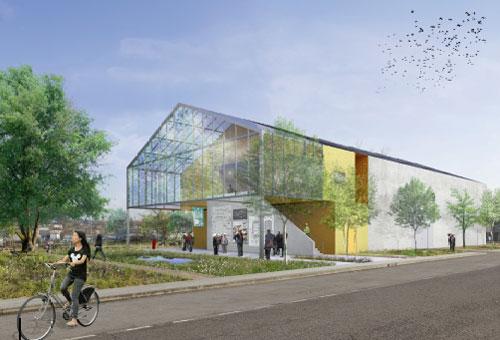 Vue architecturale de la future chaufferie d'appoint secours
