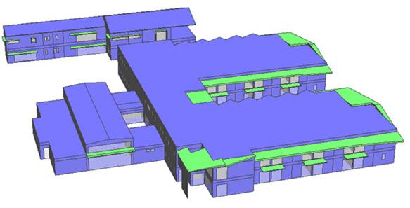modélisation 3D d'un bâtiment