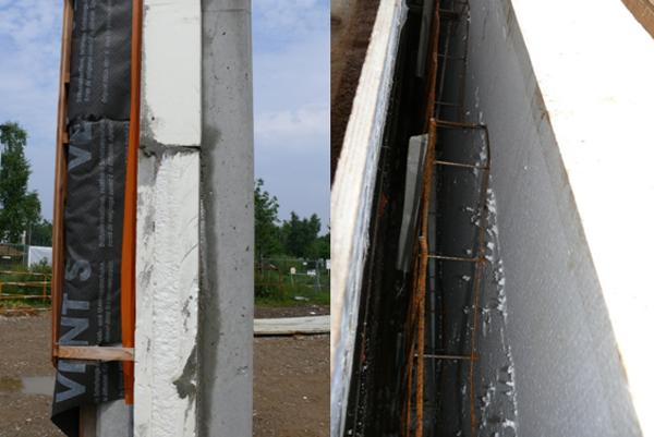 mur avant coulage du béton