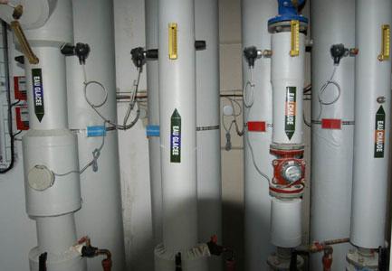 panoplie de comptage d'énergie sur bâtiment neuf