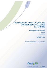 Référentiel pour la Qualité Environnementale des Bâtiments–Equipements Sportifs–Piscine
