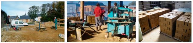 Procédé de mise en œuvre de la brique de terre crue