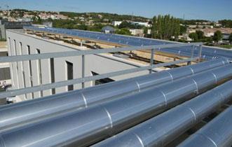 Réseaux en toiture des bâtiments