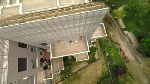 Inauguration et survol en drone