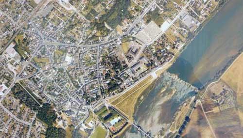 vue aérienne le champgarnier