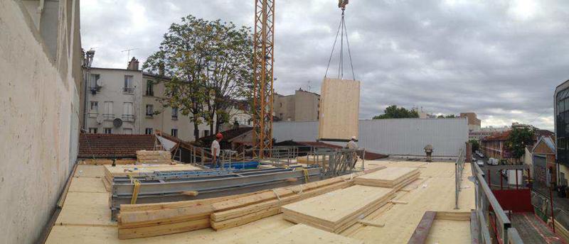 chantier sèche construction bois