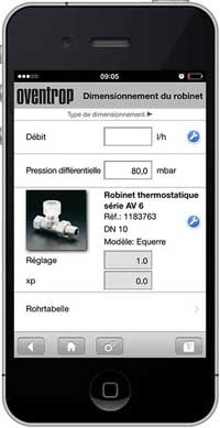 Application OVENTROP