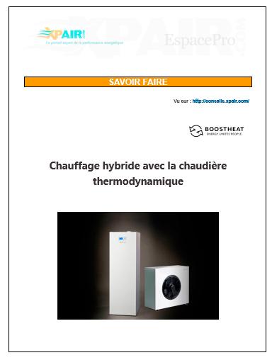 Chauffage hybride avec la chaudière thermodynamique